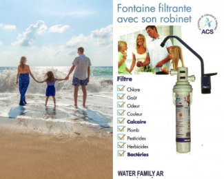 Fontaine filtrante avec son robinet Water Family AR